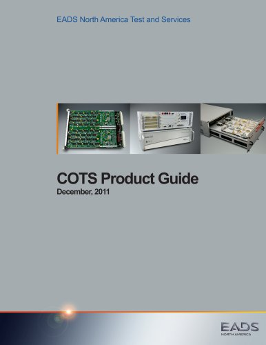 COTS Product Guide December, 2011