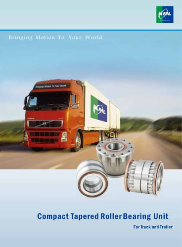 Compact tapered roller bearing unit for truck and trailer