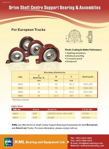 Drive Shaft Centre Support Bearing & Assemblies(For European Trucks)