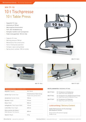 10 t Table Press