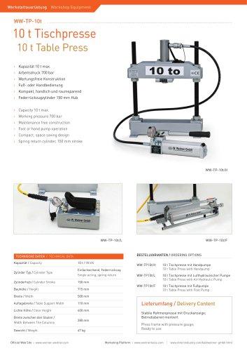 10 t Table Press