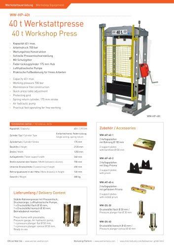 40 t Workshop Press
