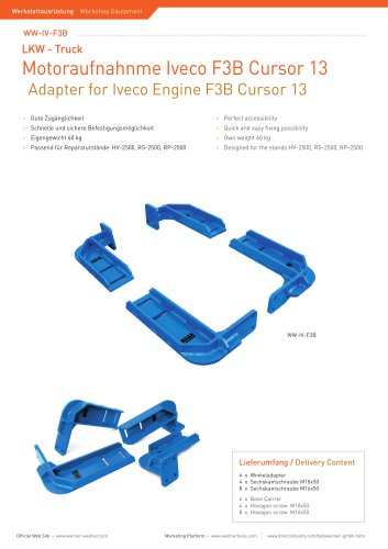 Adapter for Iveco Engine F3B Cursor 13