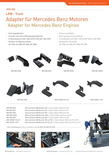 Adapter for Mercedes Benz Engines