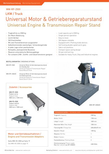 Universal Engine & Transmission Repair Stand - 7