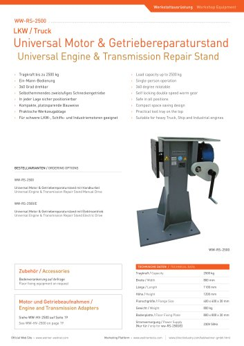 Universal Engine & Transmission Repair Stand - 8