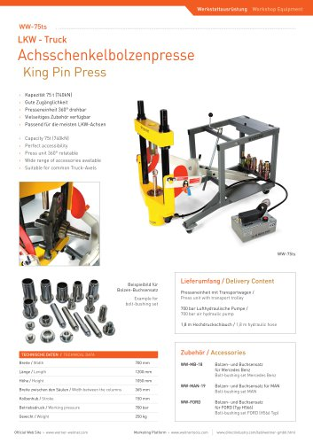 ww-75ts King Pin Press