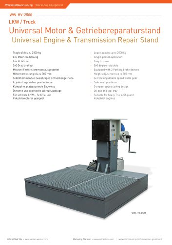 ww-HV-2500 Heavy Vehicle Engine Repair Stand