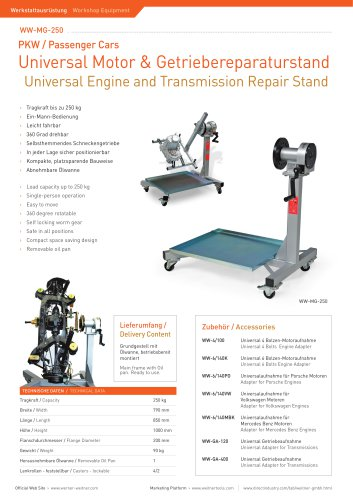 ww-MG-250 Engine Repair Stand