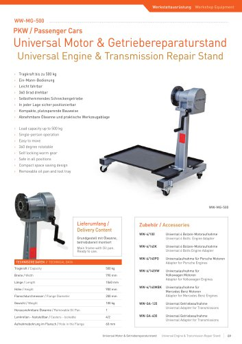 ww-MG-500 Engine Repair Stand