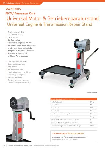 ww-MG-600/V Engine Repair Stand