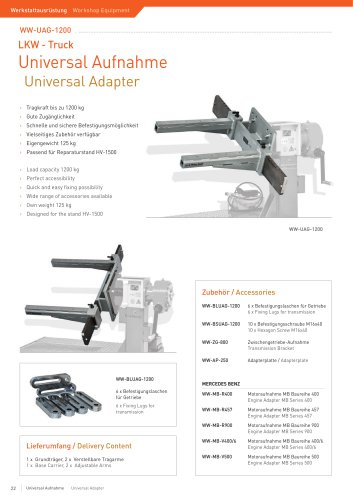 WW-UAG-1200 Universal Engine Adapter