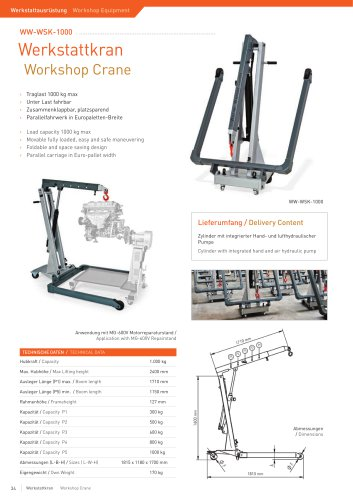 ww-WSK-1000 Workshop Crane