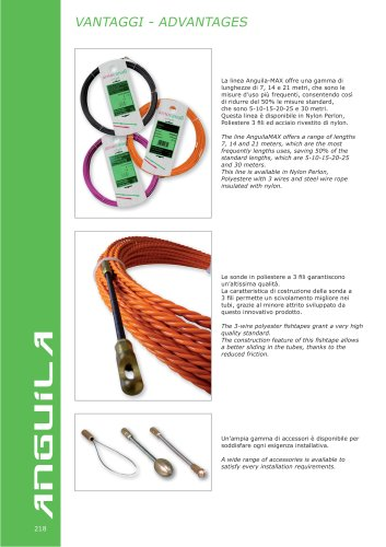 ANGUILA  Fishtapes and accessories