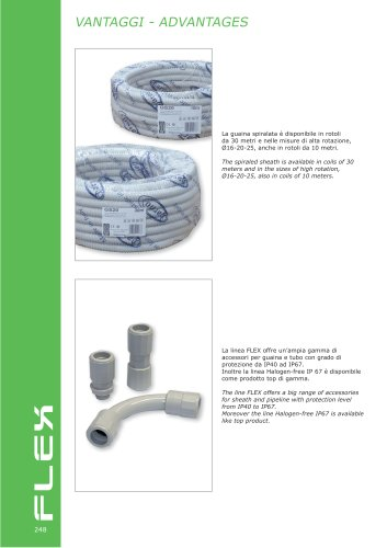 FLEX  Spiraled sheath and accessories for pipes