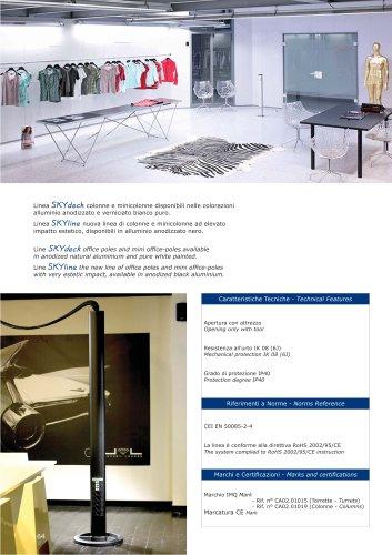 SKY Aluminium offi ce-poles for open-space