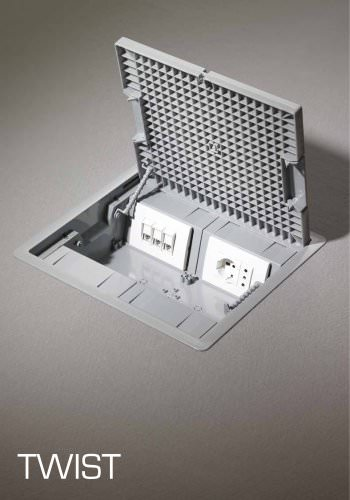 TWIST Underfloor vanishing socket boxes