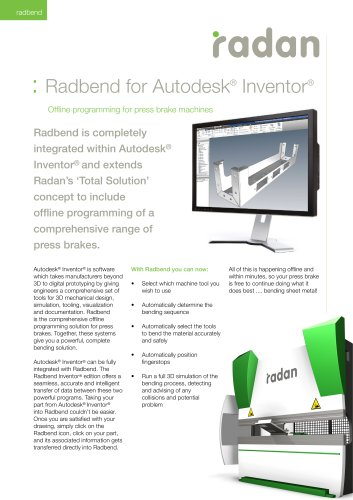 RADAN Radbend for Inventor