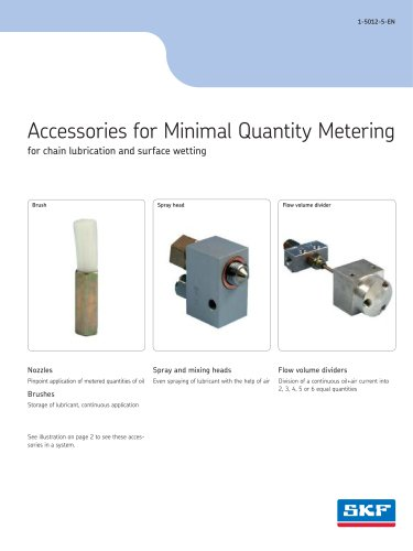 Accessories for Minimal Quantity Metering for chain lubrication and surface wetting