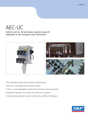 AEC-UC. Control unit for oil lubrication systems type UC dedicated to the conveyor chain lubrication