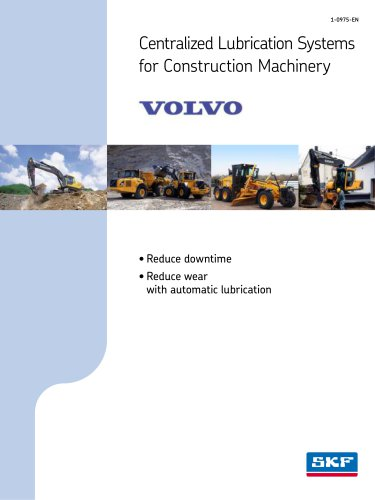 Centralized lubrication systems for VOLVO construction machinery
