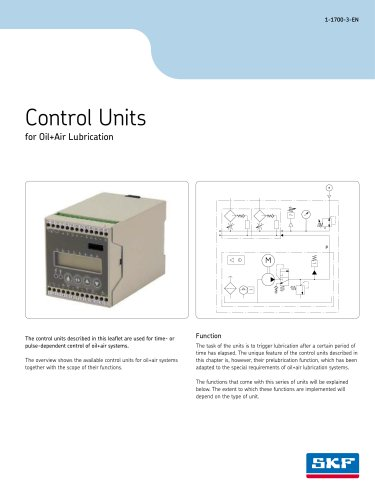 Control Units for Oil+Air Lubrication