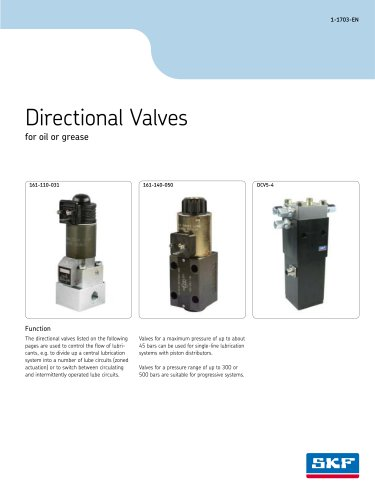 Directional Valves for oil or grease