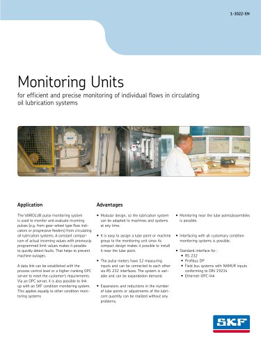 Monitoring Units in oil circulating systems