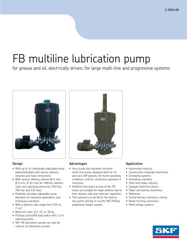Multiline pump unit for oil and grease FB?