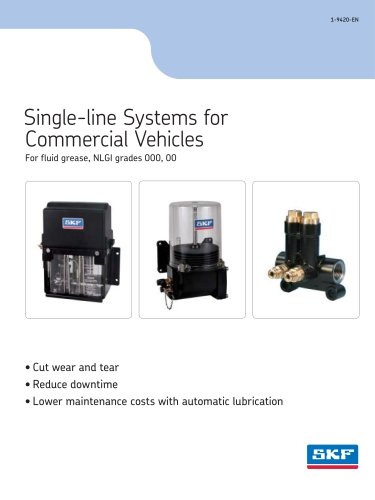 Single-line systems for grease up to NLGI grade 000,00 or 0