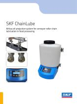 SKF ChainLube, airless oil projection system