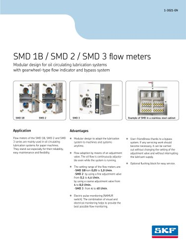 SMD 1B / SMD 2 / SMD 3 flow meters