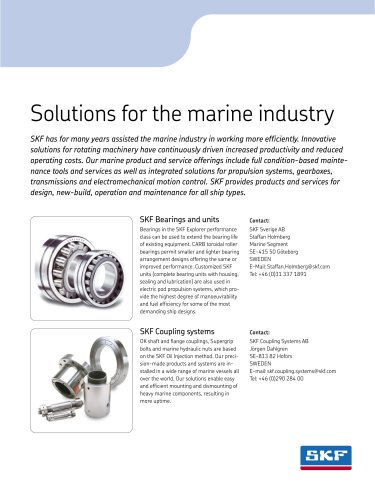 Solutions for the marine industry