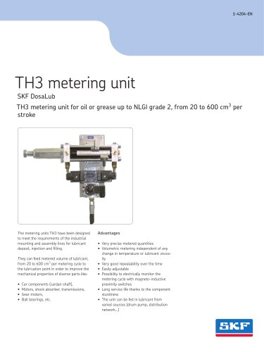 TH3 metering unit for oil or grease