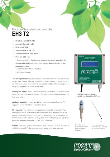EH3  T2 -Electronic humidistat and controller