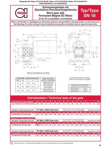 Catalogue Page GP-SN18