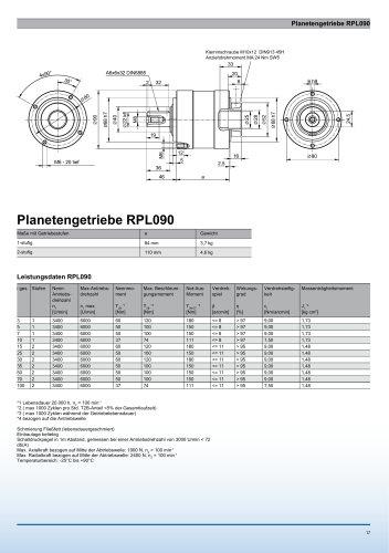 Catalogue page RPL090