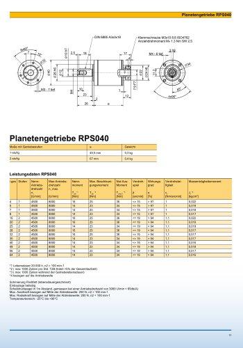 Catalogue page RPS040