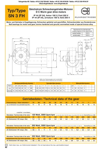 Catalogue page SN3FH - DC