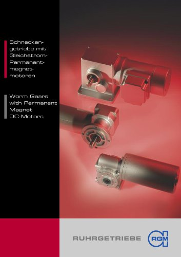 Worm Gears with Permanent-Magnet DC-Motors