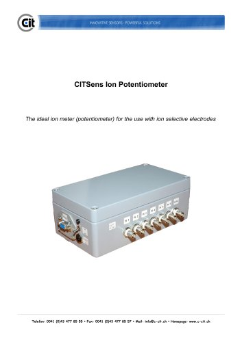 CITSens Ion product information potentiometer