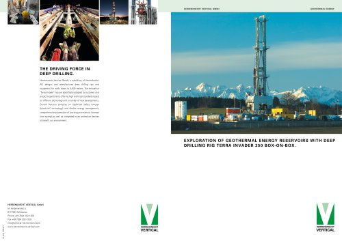 EXPLORATION OF GEOTHERMAL ENERGY RESERVOIRS WITH DEEP DRILLING RIG Terra Invader 350 BOX-On-Box.