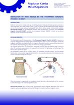 SEPARATION OF IRON METALS BY PERMANENT MAGNETIC OVERBELT - 1