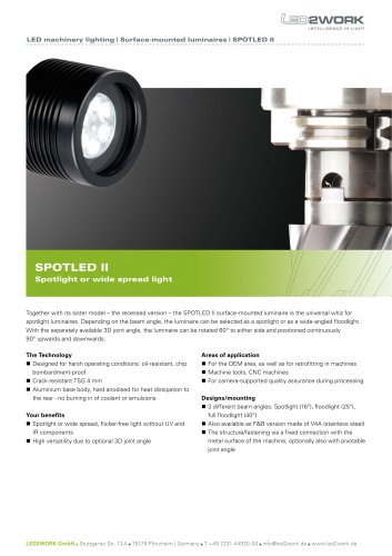 Surface mounted luminaire SPOTLED II