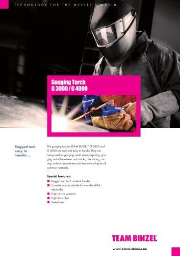 gouging torch G3000 / G4000 - BINZEL - PDF Catalogs | Technical