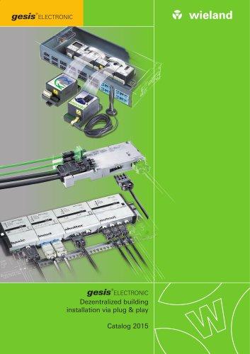 gesis® ELECTRONIC Building automation - Catalogue