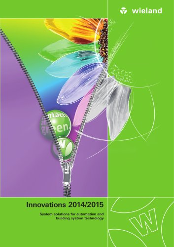 Innovations 2014/2015 - System solutions for automation and building system technology
