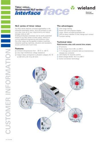 Timer relays Multifunction NLC seriesinterface