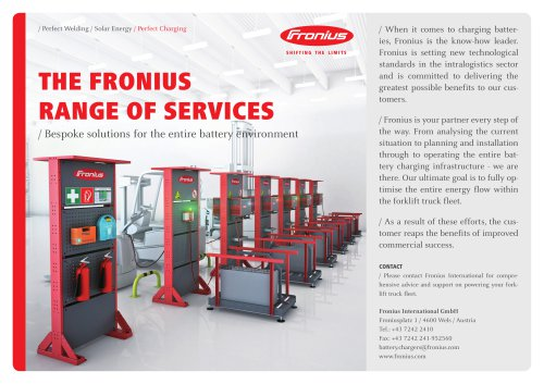 THE FRONIUS  RANGE OF SERVICES