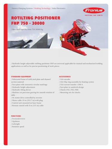 ROTILTING POSITIONER FHP 750 - 30000